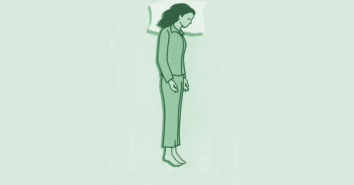 وضعيات النوم - وضعية نوم لوح الخشب