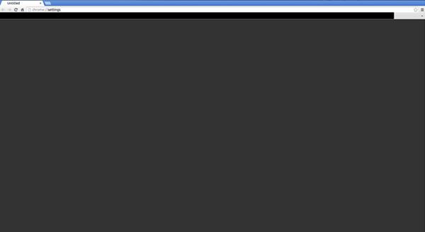 جوجل كروم شاشة سوداء