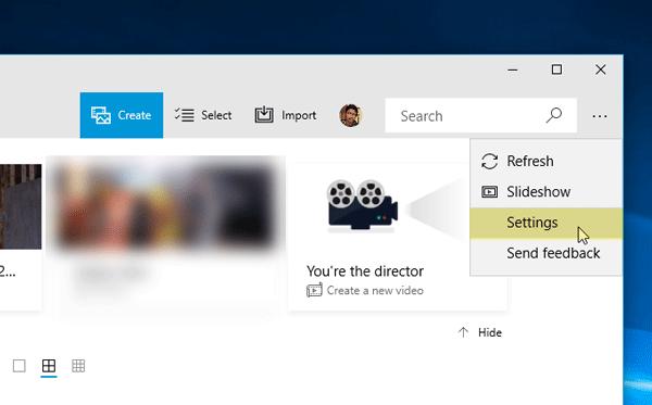 التكبير أو التصغير باستخدام عجلة الماوس في صور التطبيق على ويندوز 10