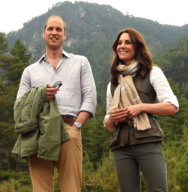 كاثرين، دوقة كامبريدج والأمير ويليام، دوق كامبريدج بعد رحلة لدير النمر عش