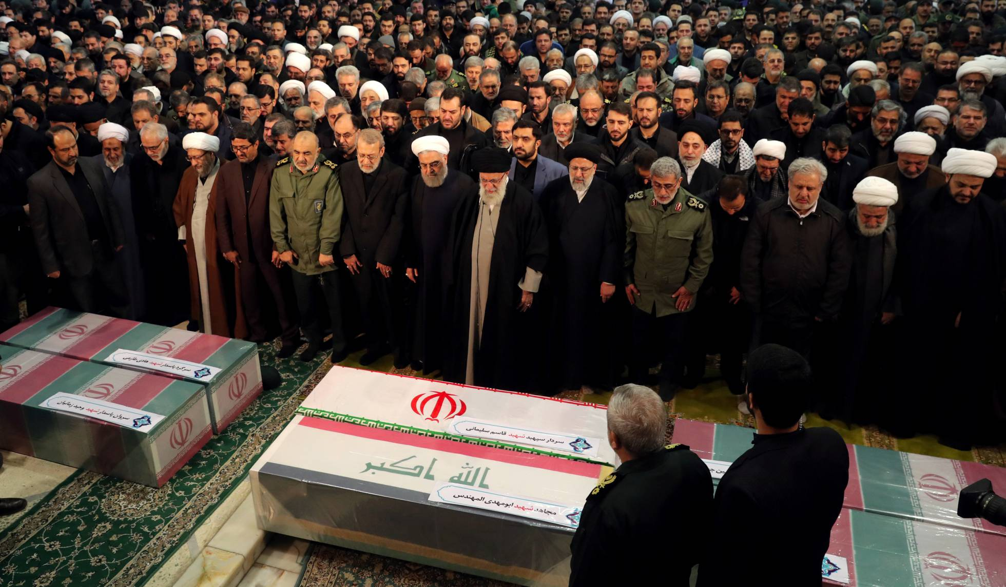 بالصور تشييع الجنرال قاسم سليماني في طهران