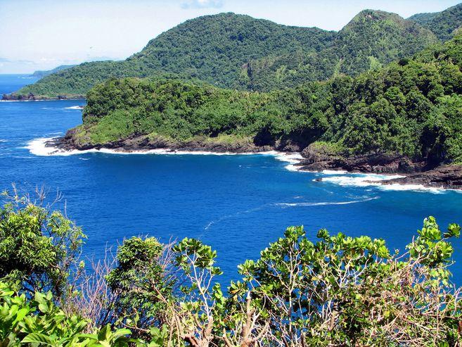 نظرة عامة على ساموا ، في جنوب المحيط الهادئ.
