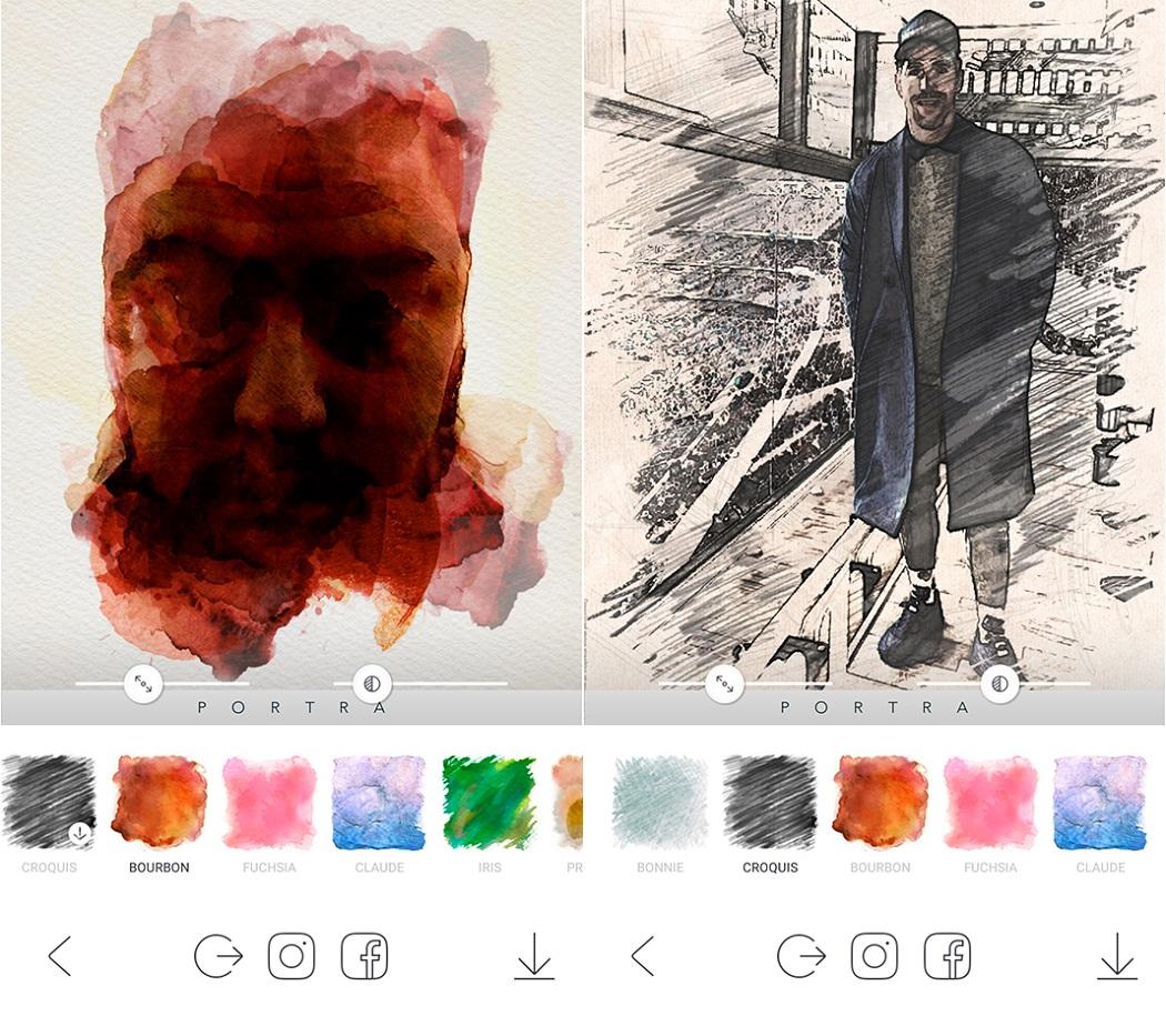 بورترا، أو كيفية جعل صورك هي فن نقي في اثنين من اللمسات