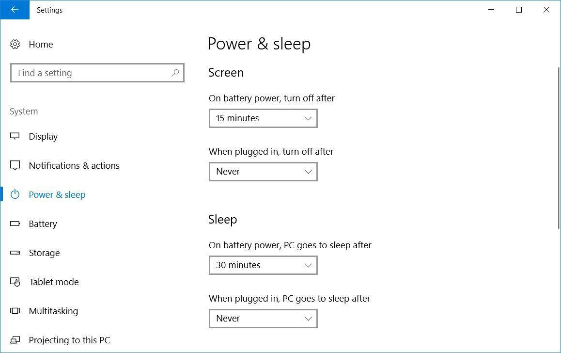 power-and-sleep-settings
