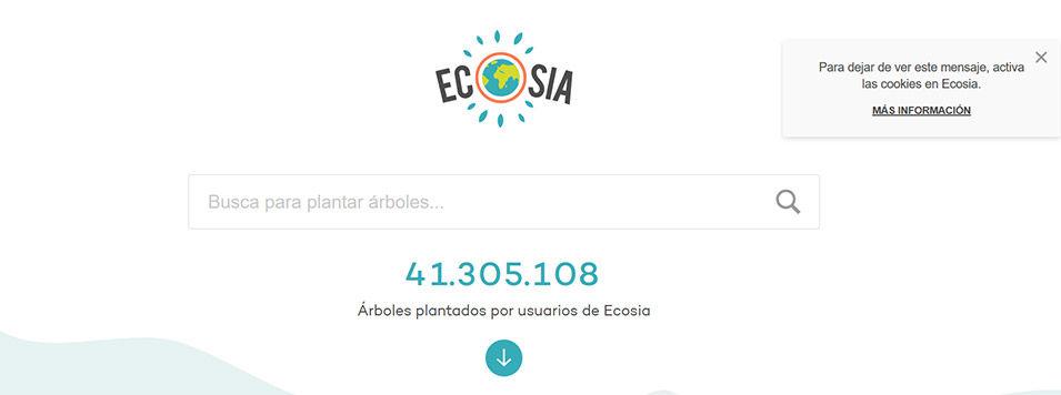 Ecosia ، محرك بحث الإنترنت البيئي