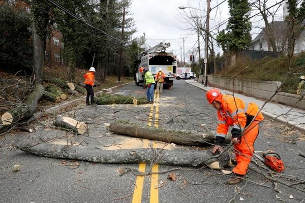 تسببت العاصفة في دمار في واشنطن العاصمة ريوترز / يوري غريباس