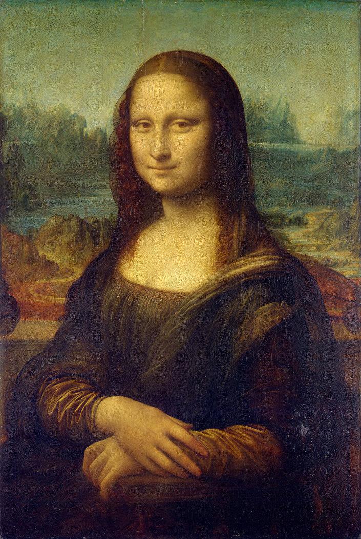صورة الموناليزا التي رسمها النهضة الإيطالية ليوناردو دا فينشي
