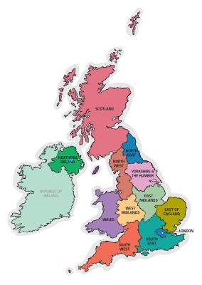 المملكة المتحدة خريطة