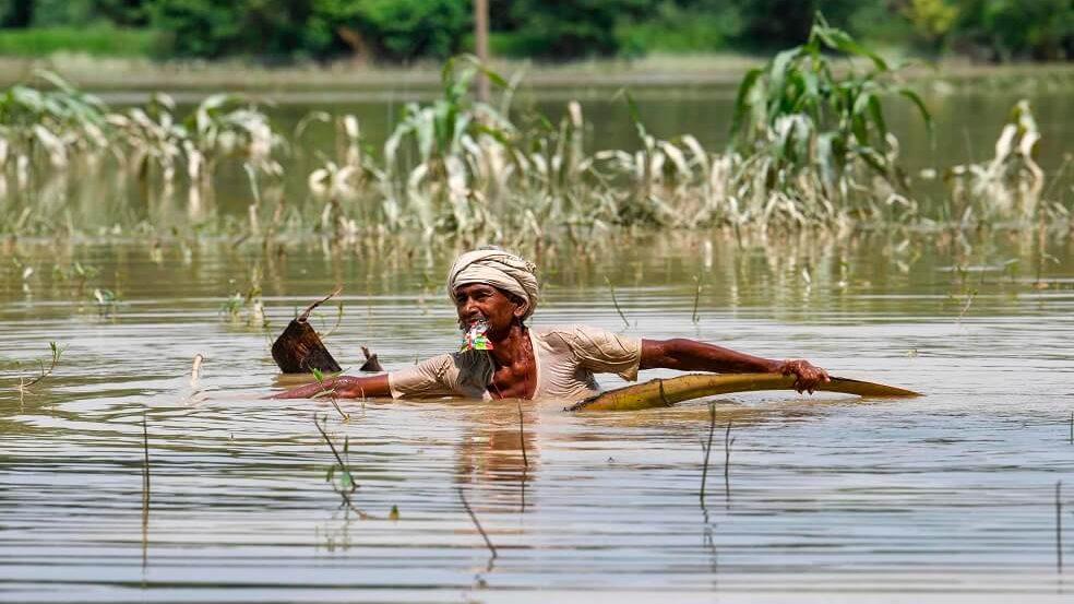 بالصور: الفيضانات الرهيبة في الهند التي تؤثر على ملايين الناس