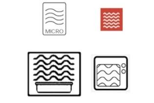 الرموز المستخدمة في حاويات آمنة للميكروويف